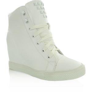 Sneakers high top Y447-41 BIAŁE